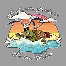 Eine Schildkröte hat es ins Wasser geschafft! von raediocloud
