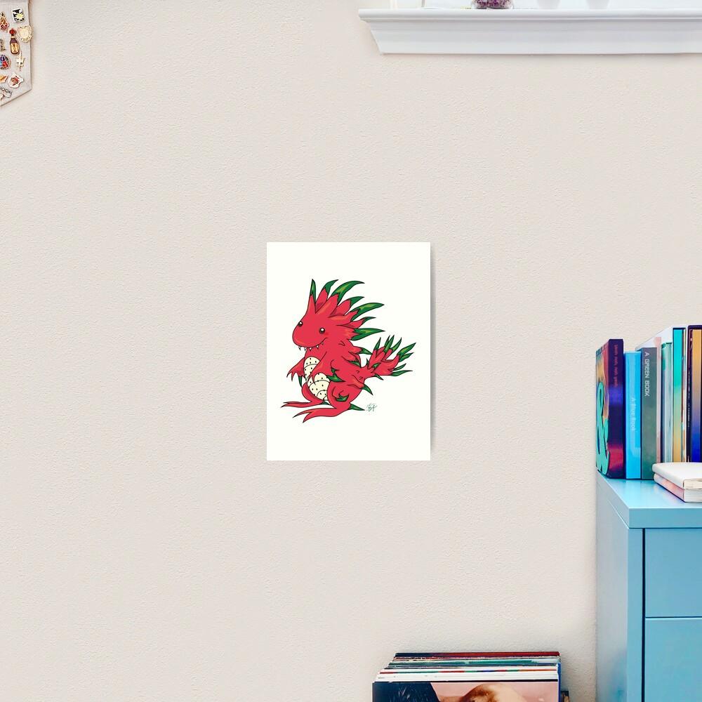 Dragon Fruit Dragon-White Art Print