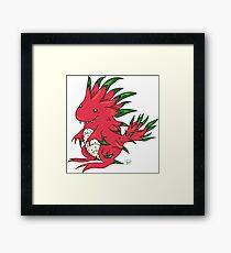 Dragon Fruit Dragon-White Framed Print