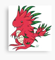Dragon Fruit Dragon-White Canvas Print