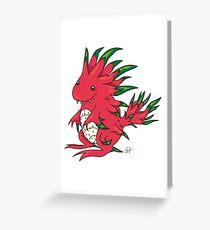 Dragon Fruit Dragon-White Greeting Card