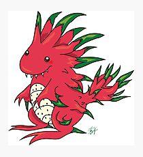 Dragon Fruit Dragon-White Photographic Print