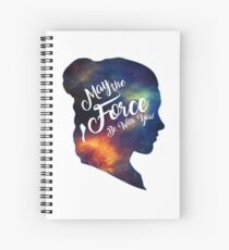 May the Force be With You - Carrie Fisher -Princess Leia Tribute Shirt Spiral Notebook