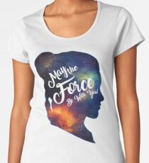 May the Force be With You - Carrie Fisher -Princess Leia Tribute Shirt Women's Premium T-Shirt