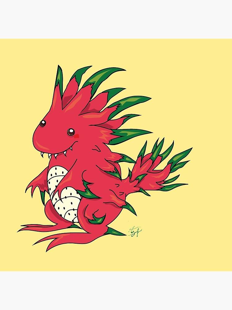 Dragon Fruit Dragon-White by GroglioArt