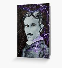Nikola Tesla Greeting Card