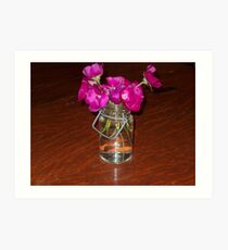 Clear Glass and Pretty Pink Art Print