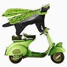 Honey Badger on Vespa in Green by SirLeeTees