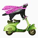 Honey Badger on Vespa in Pink by SirLeeTees