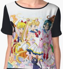 Sailor Moon Group Chiffon Top