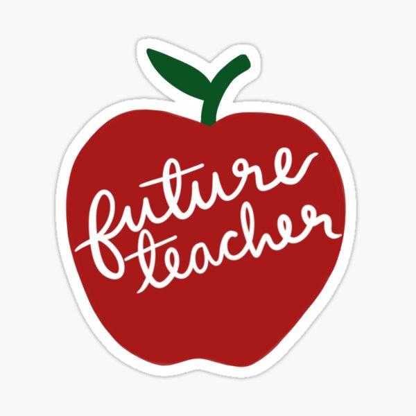 Future Teacher Apple Sticker