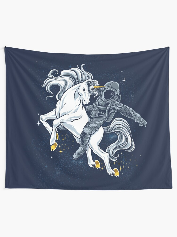 Alternate view of Space Rodeo Tapestry