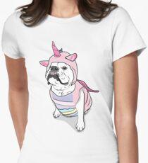Camiseta entallada para mujer Princessbuttcup el unicornio