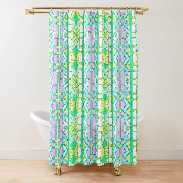 Primitif 58 by Hypersphere Shower Curtain