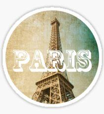old fashioned paris The Eiffel Tower  Sticker