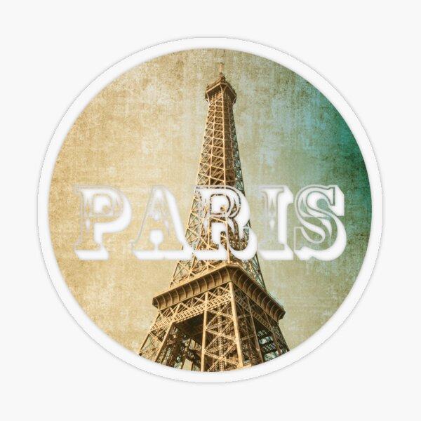 old fashioned paris The Eiffel Tower  Transparent Sticker