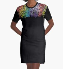 rainbow squiggle  Graphic T-Shirt Dress