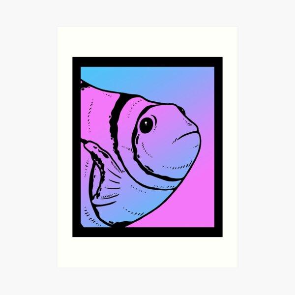 Vaporwave Clownfish Aesthetic Goth Anemonefish Art Print