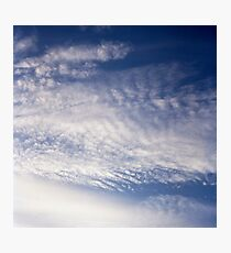 White and Blue Sky Photographic Print