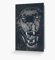 Panther Claybord (big) Greeting Card