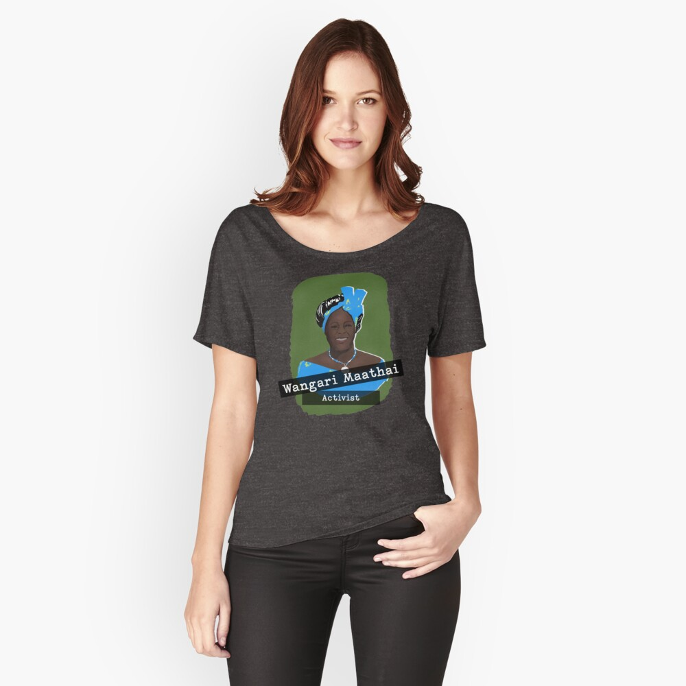 Herstory Portrait: Wangari Maathai Women's Relaxed Fit T-Shirt Front