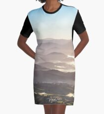 Sunrise over the Yarra Valley from a Hot Air Balloon, Victoria, Australia. Graphic T-Shirt Dress