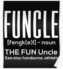 Onkel Lustig Athletisch Attraktiv Geschenk Witz Poster