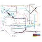 West Midlands Tube Map (centred on Birmingham) by danbadgeruk