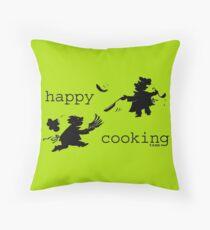 happy cooking team · Tortillas deliciosas de los mejores cocineros Cojín