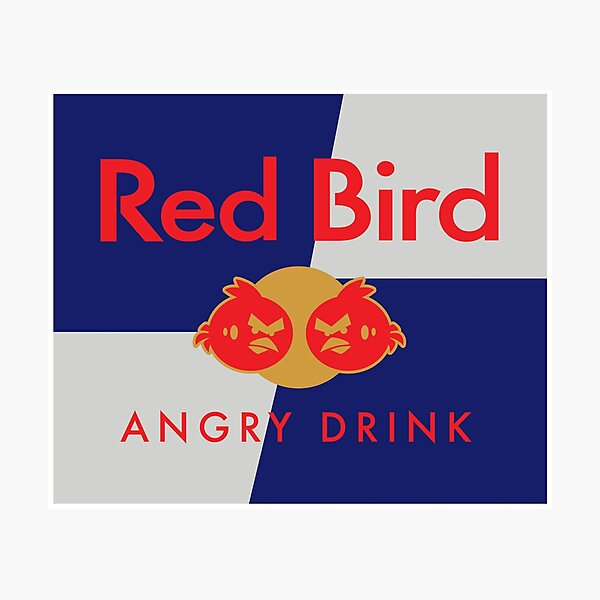 red bird angry drink Photographic Print