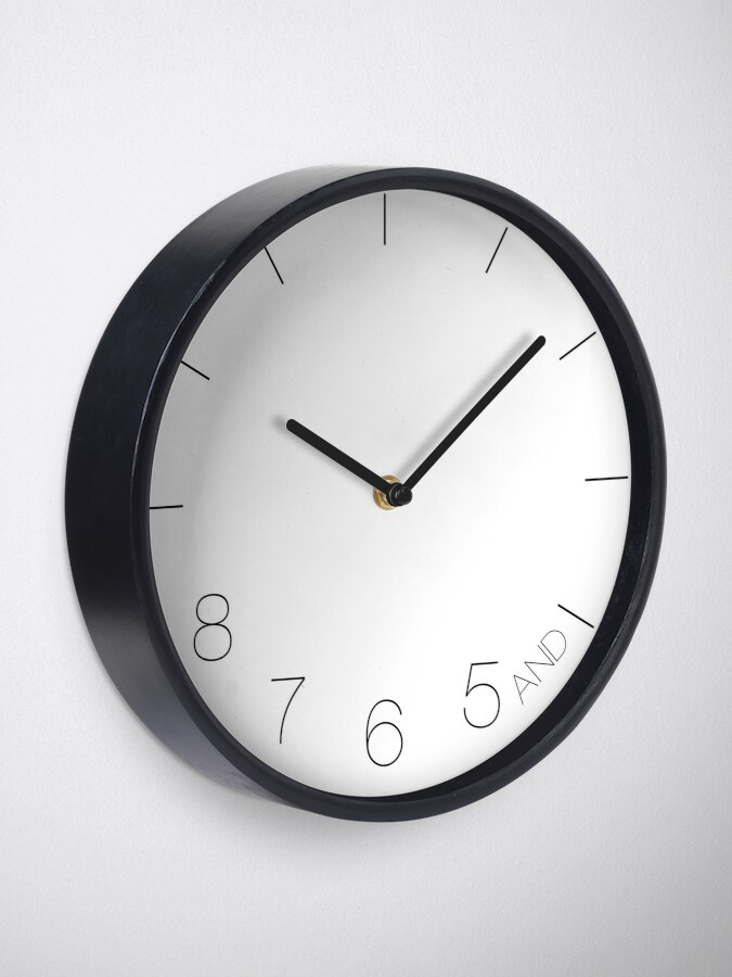 Alternate view of Dancer's Clock | Gifts for Dancers Clock