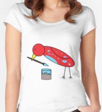 Bird Brush Women's Fitted Scoop T-Shirt