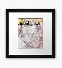 Pastel Houses Framed Print