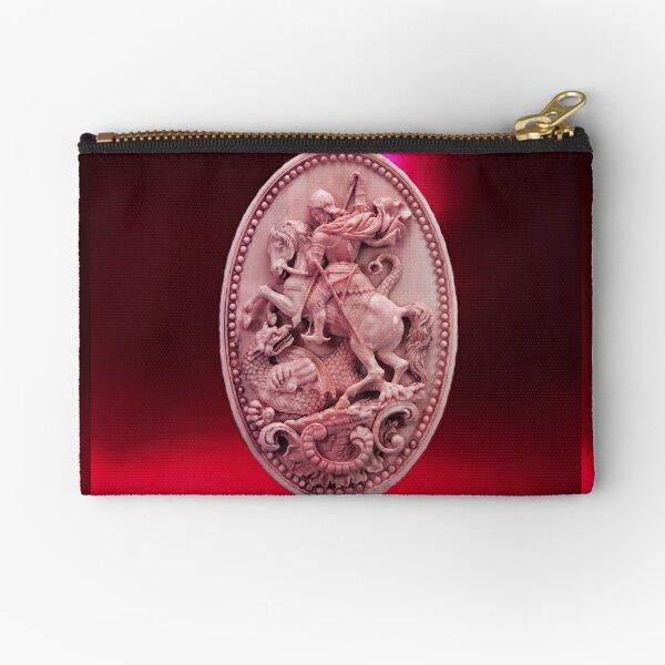 CAMÉO ANTIQUE / SAINT GEORGE ET DRAGON Rose Rouge Bordeaux Pochette