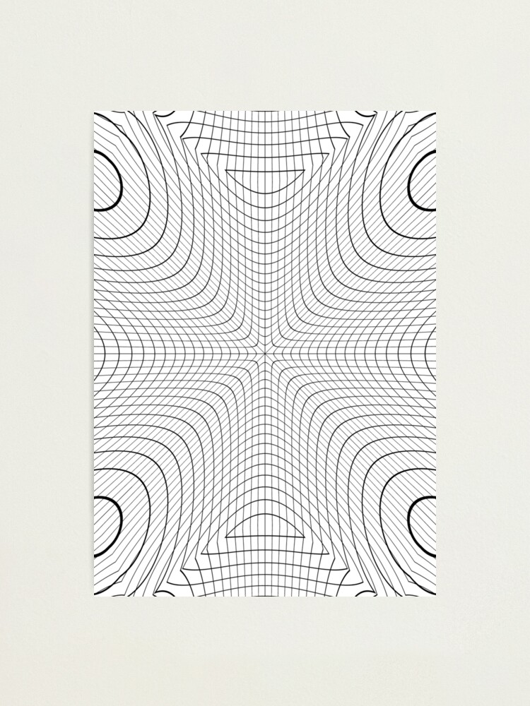 Alternate view of #blackandwhite #structure #circle #symmetry #monochrome #pattern #abstract #design #illustration #art #curve #vertical #photography #geometricshape #inarow #textured #backgrounds Photographic Print