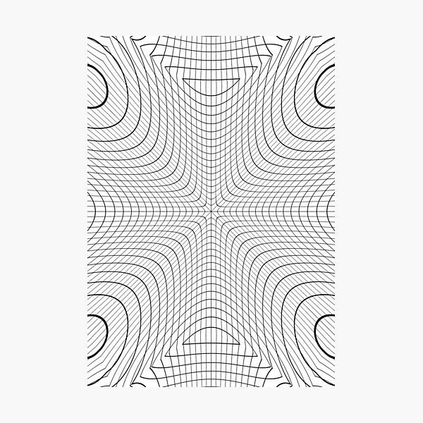 #blackandwhite #structure #circle #symmetry #monochrome #pattern #abstract #design #illustration #art #curve #vertical #photography #geometricshape #inarow #textured #backgrounds Photographic Print