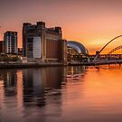 River Tyne Sunset  by Great North Views