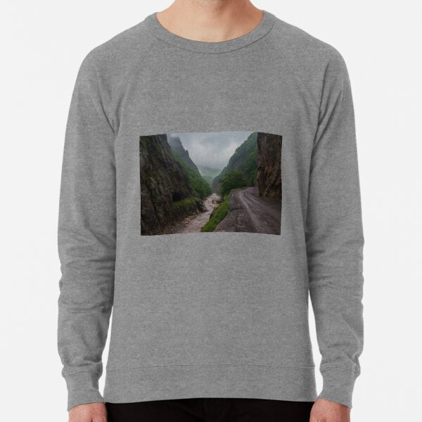 #wilderness #ravine #mountainpass #tree #mountain #landscape #nature #outdoors #valley #road #water #sky #wood #horizontal #mountainrange #hill #highangleview #plant #extremeterrain #geology #nopeople Lightweight Sweatshirt