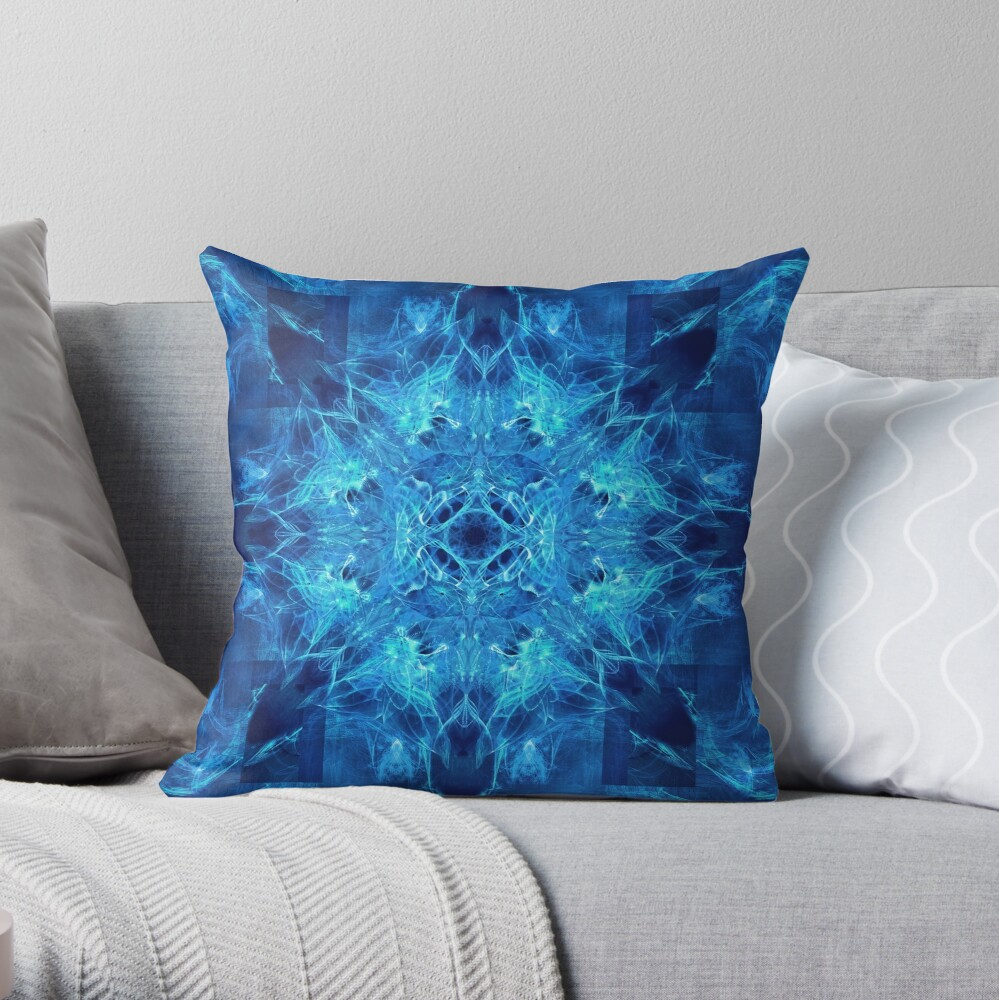 Dragonheart - Blue Throw Pillow