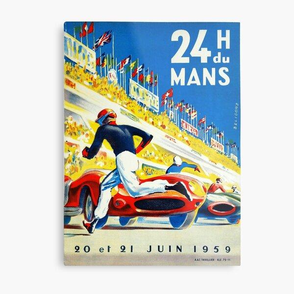 Vintage 1959 le Mans Poster Metal Print