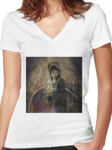 No Title 97 Women's Fitted V-Neck T-Shirt