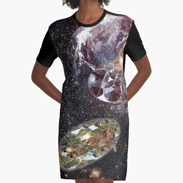 Escape From Earth Graphic T-Shirt Dress