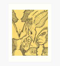 differance of opinion Art Print