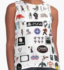 #Cyberpunk #fashion #cute #lace #people #clothing #pants #tights #horizontal #whitecolor #colorimage #copyspace #women #cutout #girls #youngadult #humanleg #femininity #onlygirls #youthculture Contrast Tank