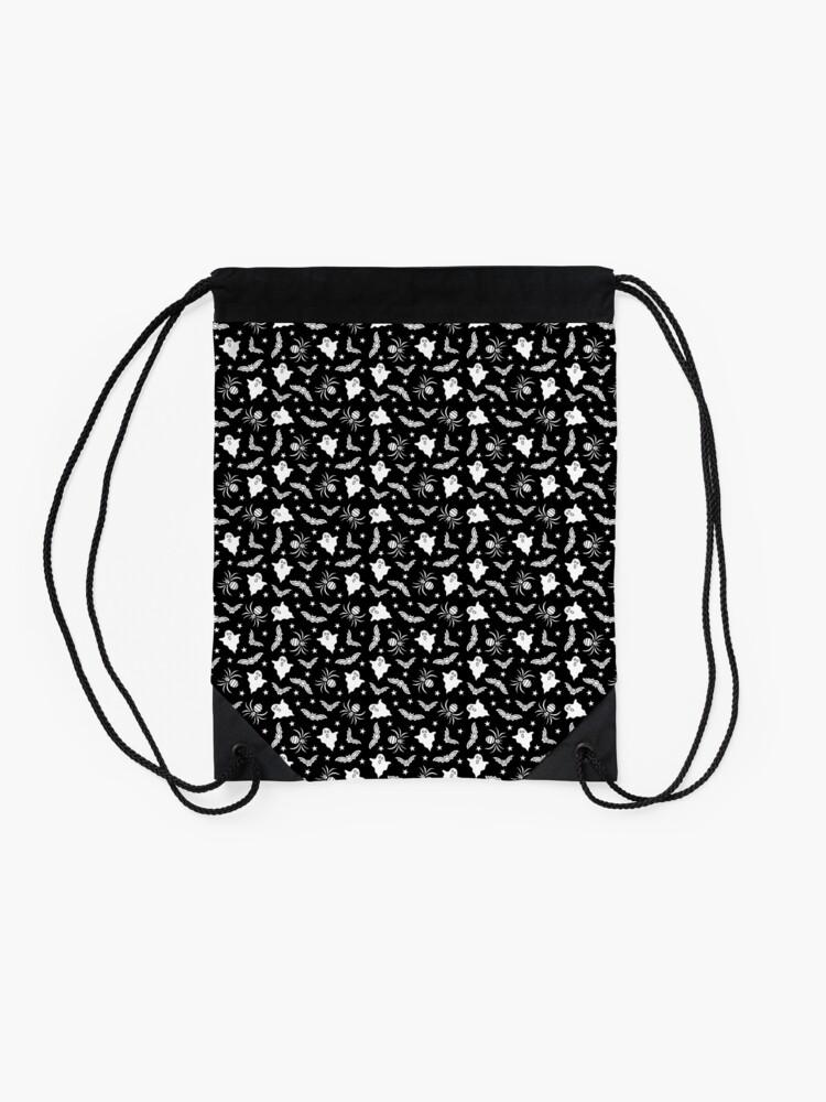 Alternate view of Spooky Halloween pattern Drawstring Bag