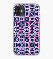 Navy Glow Pattern  iPhone Case