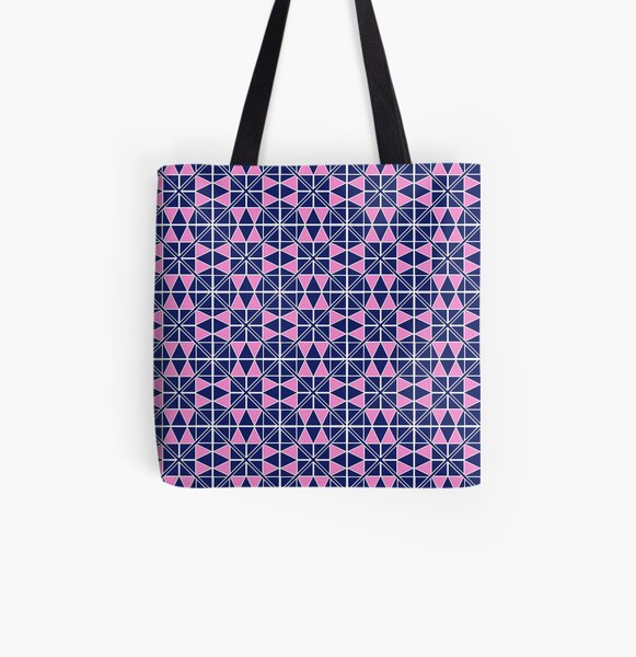 Navy Glow Pattern  All Over Print Tote Bag