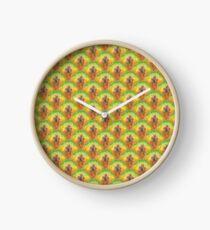 Pure Pineapple Pattern Clock