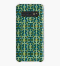 Green Triangle Pattern Case/Skin for Samsung Galaxy