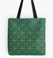 Green Triangle Pattern Tote Bag